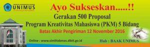 sukseskan 500 proposal pkm